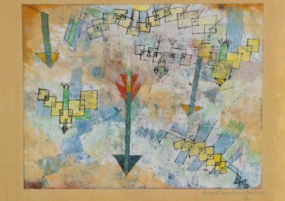 Klee, Paul: Birds Swooping Down and Arrows. Fine Art Print/Poster (4987)